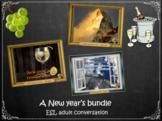 New Year's bundle -  ESL adult power-point conversation lesson