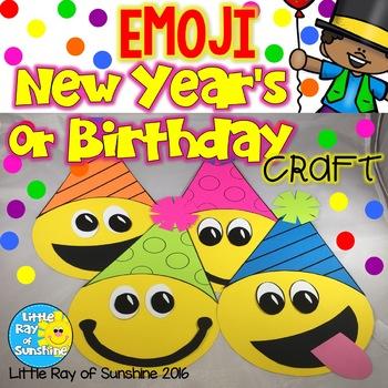 New Year's or Birthday EMOJI Craft