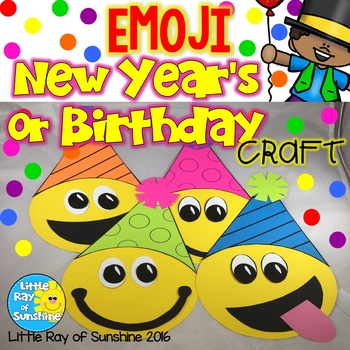 New Years Or Birthday EMOJI Craft By Little Ray Of Sunshine