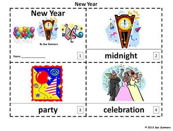 New Year's 2 Emergent Reader Booklets