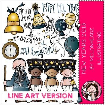 New Years 2013 by Melonheadz LINE ART
