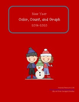 New Year's 2014-2020 Color, Count, and Graph (7 years!)