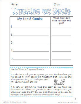 New Years 2017 Resolution Writing Activity FREE