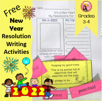 New Years 2018 Resolution Writing Activity FREE