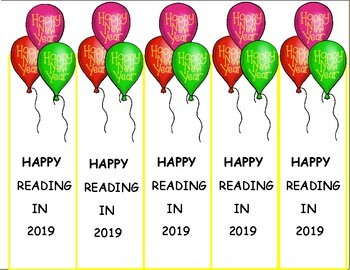 New Years 2018 Bookmarks, Free January Craft