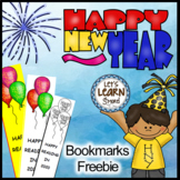 New Years 2019 Bookmarks, Free January Craft