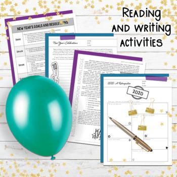 New Year's 2018: Goals, Resolutions, Activities (Grades 6, 7, 8, 9)
