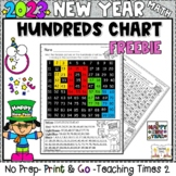 New Years 2019 Hundreds Chart Hidden Picture Freebie