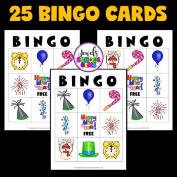 New Year's 2017 Activities (New Year's Bingo)