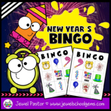 New Year's 2019 Activities (New Year's Bingo Game Cards)