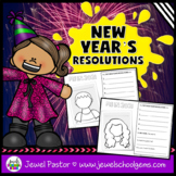 New Year's 2018 Activities (New Year's Resolutions 2018 and Self-Portrait)