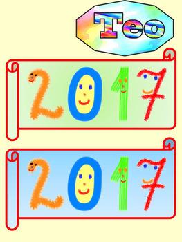 New Years 2017 - Winter - Fun Numbers - Ciip Art