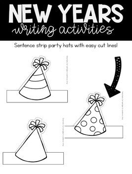 New Years 2017 Writing Unit and Craftivity