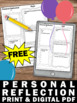 FREE Download New Years Day or End of the Year Personal Reflection Worksheet