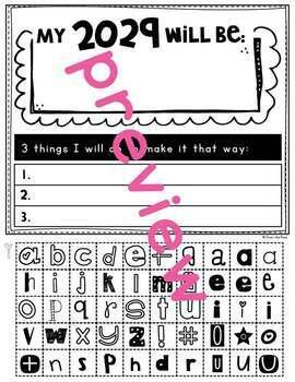 New Years Activity {One Word + 3 Strategies}