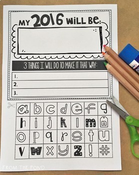New Years Activity {One Word + 3 Strategies}