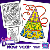 FREEBIE New Years 2017 Coloring Sheets