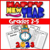 New Years Activities 2019 Grades 3-5