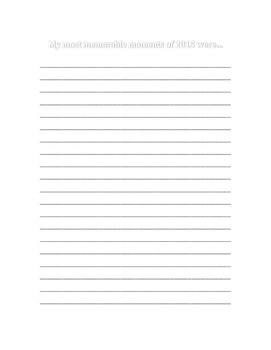 New Years 2016 Journal Prompts