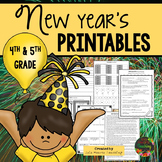 Happy New Years 2018 Activities (Fourth Grade and Fifth Grade)