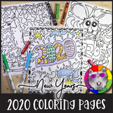 2020 Coloring Pages, New Years Zen Doodles