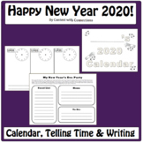 New Years Activities 2019: Math, Calendar Skills & Telling Time