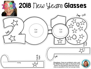 New Years 2018 Glasses Craft or Graduation