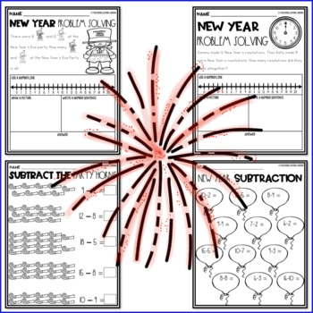 New Years 2018 Math Worksheets
