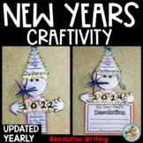 New Years 2021 Activities Resolution Writing Craftivity