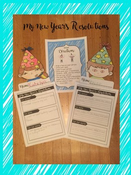 New Years 2018 Writing Craftivity & Center
