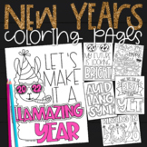 New Years Activities 2019 Coloring Pages | Growth Mindset