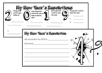 New Years 2019 Activities - Math, Reading, and Grammar