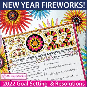 New Years Resolution Goal Setting Art and Writing