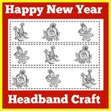New Years 2019 Craft | Happy New Year 2019 Coloring Page | New Years Craft