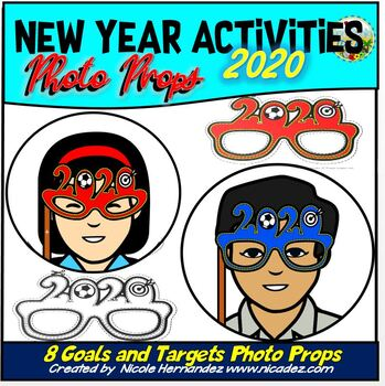 New Years 2020 Photo Props | Goals and Targets Photo Props