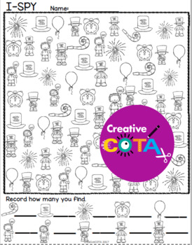 New Years 2020 Math and Literacy Worksheets and Activities Bundle