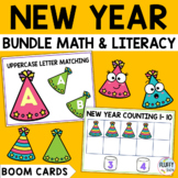 New Years 2021 Boom Cards BUNDLE for Preschool