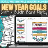 New Years 2021 Goals Digital and Print (Bulletin Board and