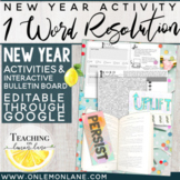 New Years 2021 One Word Resolution Goal Setting Activity Bulletin Board Idea