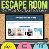 New Years 2021   Student Word Goal Digital Escape Room   D