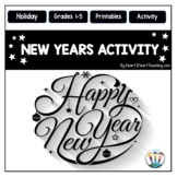 New Years 2018 Activities: New Years Resolution & Goals Activities