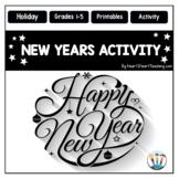 New Years 2018 Activities: New Years Resolution & Goals Activities