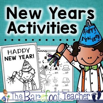 New Years Math & Literacy Activities