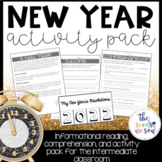 New Years 2018 Activity Pack