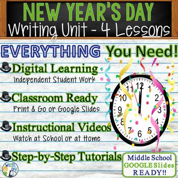 New Year's Writing BUNDLE! - Argumentative, Persuasive, Expository, Narrative