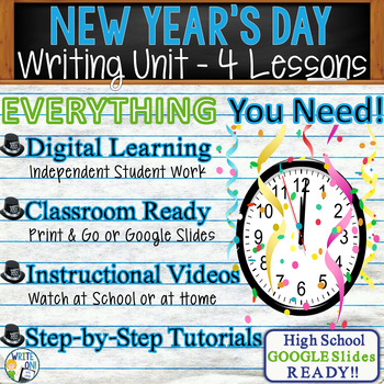 New Year's Writing BUNDLE! - Argumentative, Persuasive, Expository, Narrative