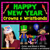 New Years Activities 2019 : Crowns and Wristbands - New Years Craft