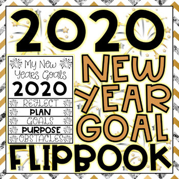 New Years Activity 2019 Writing Goals Flip Book with Question Prompts + Updates!