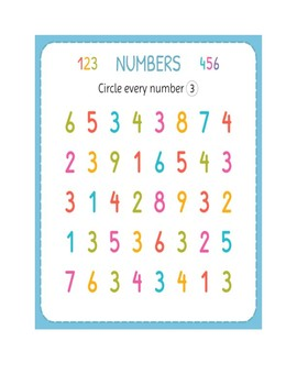 New Years Activities 2019 Math | Identifying Numbers 1-10 Assessment