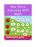 New Years Activities 2019 Math | Identifying Numbers 1-10